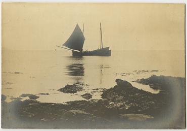A Manx nickie off Niarbyl, Isle of Man