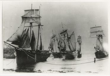 The schooner 'Progress' and others, Port St Mary