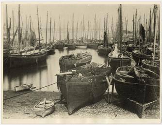 Fishing fleet at Port St Mary Harbour