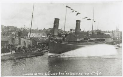 SS Lady Fry, launch in Douglas 1923 and…