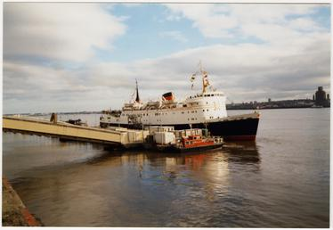 Lady of Mann II' preparing to leave Liverpool…