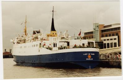 Lady of Man II' passing through Birkenhead dock…