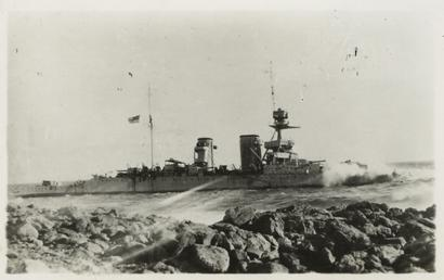 HMS Raleigh on the rocks off the Labrador…
