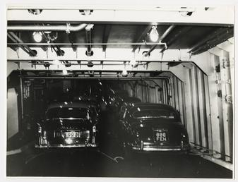 Car deck of the 'Manx Maid'