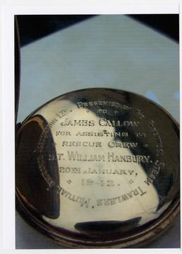 Watch presented to James Callow, involved in the…