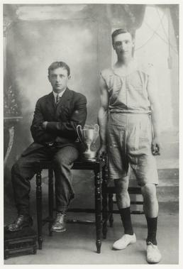 William Quirk's grandfather and trainer with Andreas marathon…