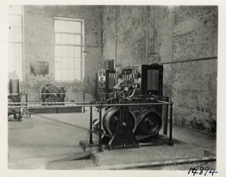 Switchboard, Mather & Platt dynamo and motor driving…