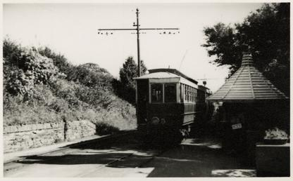 Manx Electric Railway vestibuled saloon 5 at Garwick…