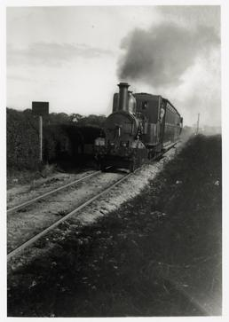 Isle of Man Railway train leaving Ramsey