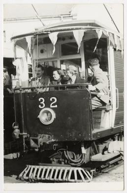 Manx Electric Railway open cross-bench motor car 32