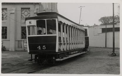 Manx Electric Railway open car 45 at Ramsey…
