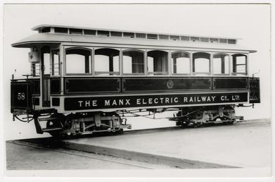 Manx Electric Railway saloon trailer 58