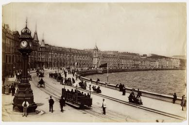 View of the promenade and jubilee clock, with…