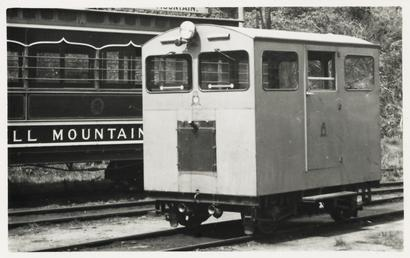 RAF diesel railcar on the Snaefell Mountain Tramway…