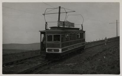 Snaefell Mountain Railway saloon car No.4 on Snaefell