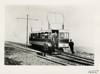 View of Snaefell Mountain Railway car No. 3