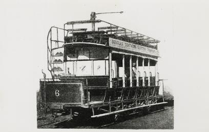 Douglas Southern Electric Railway tram No. 6