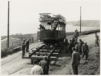 Moving Douglas Southern Electric Railway car No. 1…