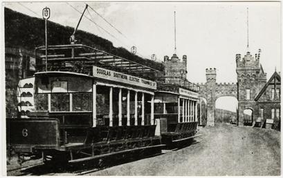 Douglas Southern Electric Railway trams after passing through…