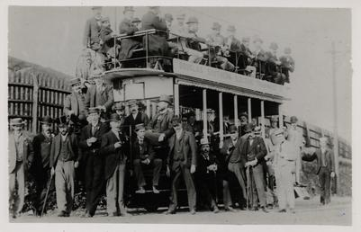 Douglas Southern Electric Railway director special poses near…