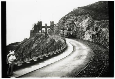 Douglas Southern Electric Railway trams towards the Marine…