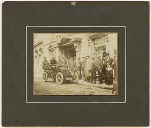 Mr Ashburner's Renault in front of the Mitre…