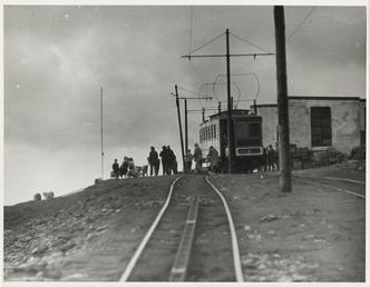 Snaefell Mountain Railway Team on Summit