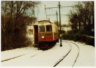 Winter Saloon No.22 at Ballaglass in the snow