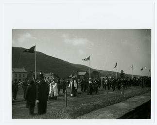 Tynwald procession showing the Sword of Honour being…