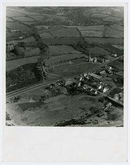 Aerial photograph of Tynwald Hill and St John's