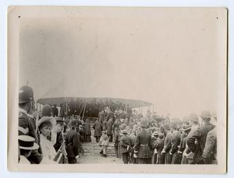 Tynwald ceremony showing the crowds looking towards the…
