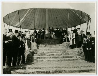 Dignitaries on Tynwald Hill including Lieutenant Governor Sir…
