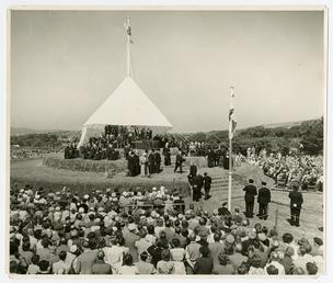 Lieutenant Governor Sir Felix Dundas at the Tynwald…