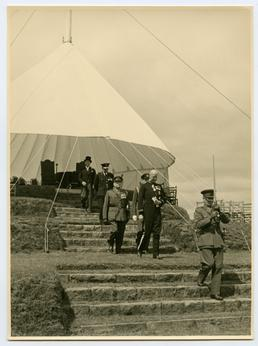 Lieutenant Governor Sir Ambrose Dundas and attendants leaving…