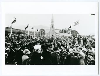 Tynwald ceremony showing spectators watching the procession from…