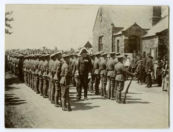 Lieutenant Governor Lord Raglan inspecting the troops prior…