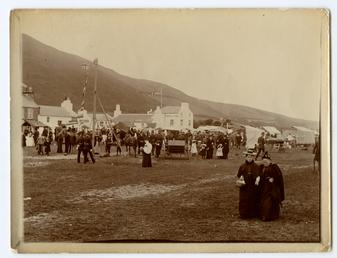 Tynwald Day with people visiting the 'fair field'