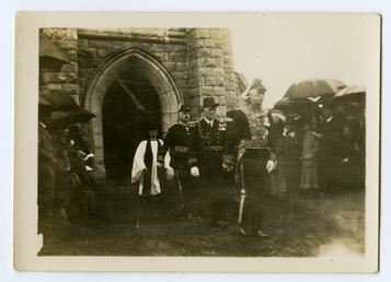 Lieutenant Governor Sir Claude Hill leaving St John's…