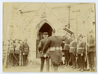 Dignitaries entering St John's Church on Tynwald Day…