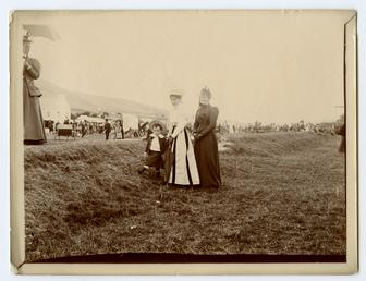 Two ladies and a boy at Tynwald fair