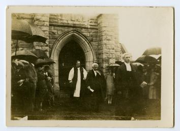 Dignitaries on Tynwald Day leaving St John's Church