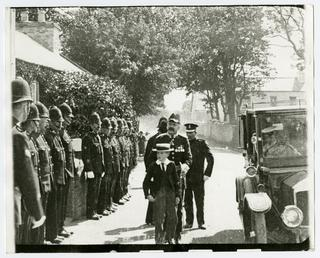 Lieutenant Governor Major General William Fry inspecting the…