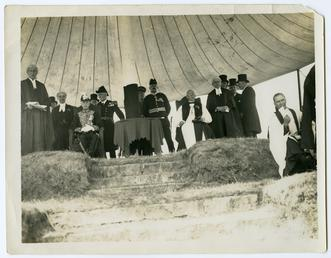 Lieutenant Governor Sir Claude Hill and other dignitaries…