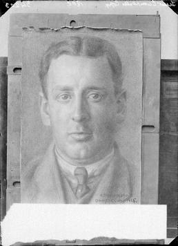 First World War internee artwork (charcoal portrait), Douglas…