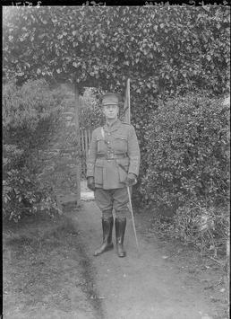 First World War Military Officer in front of…