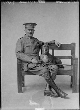 First World War Military Guard with Dog, Douglas…