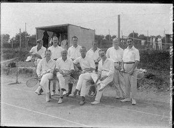 First World War Internees' Tennis Club in front…