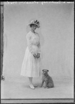 First World War Young Woman with Dog, Isle…