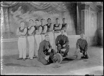 First World War Internee Weightlifting Team, Theatre, Knockaloe…