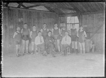 First World War Internee Gymnasts or Wrestlers, Theatre,…